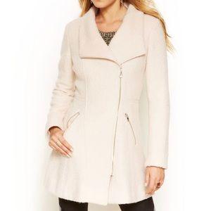 Guess asymmetrical wool coat